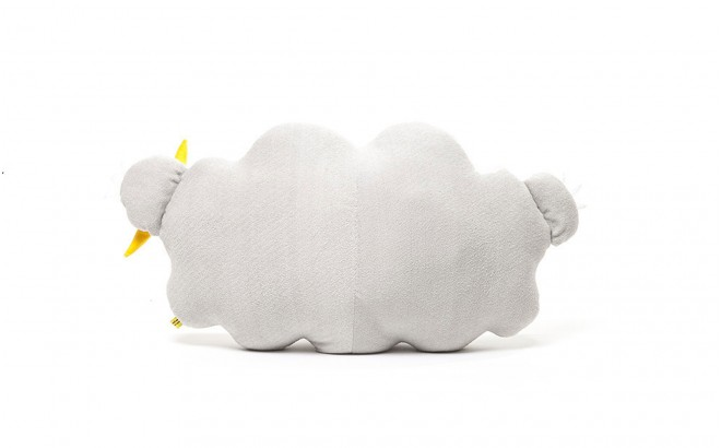cloud plush cushion grey
