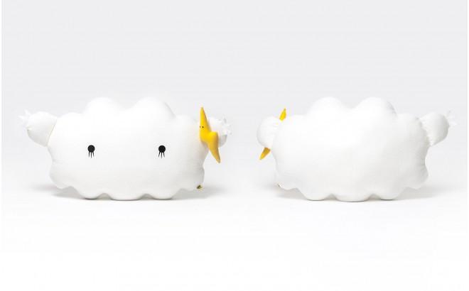 cojin peluche felpa nube blanco para bebé y niños por Noodoll