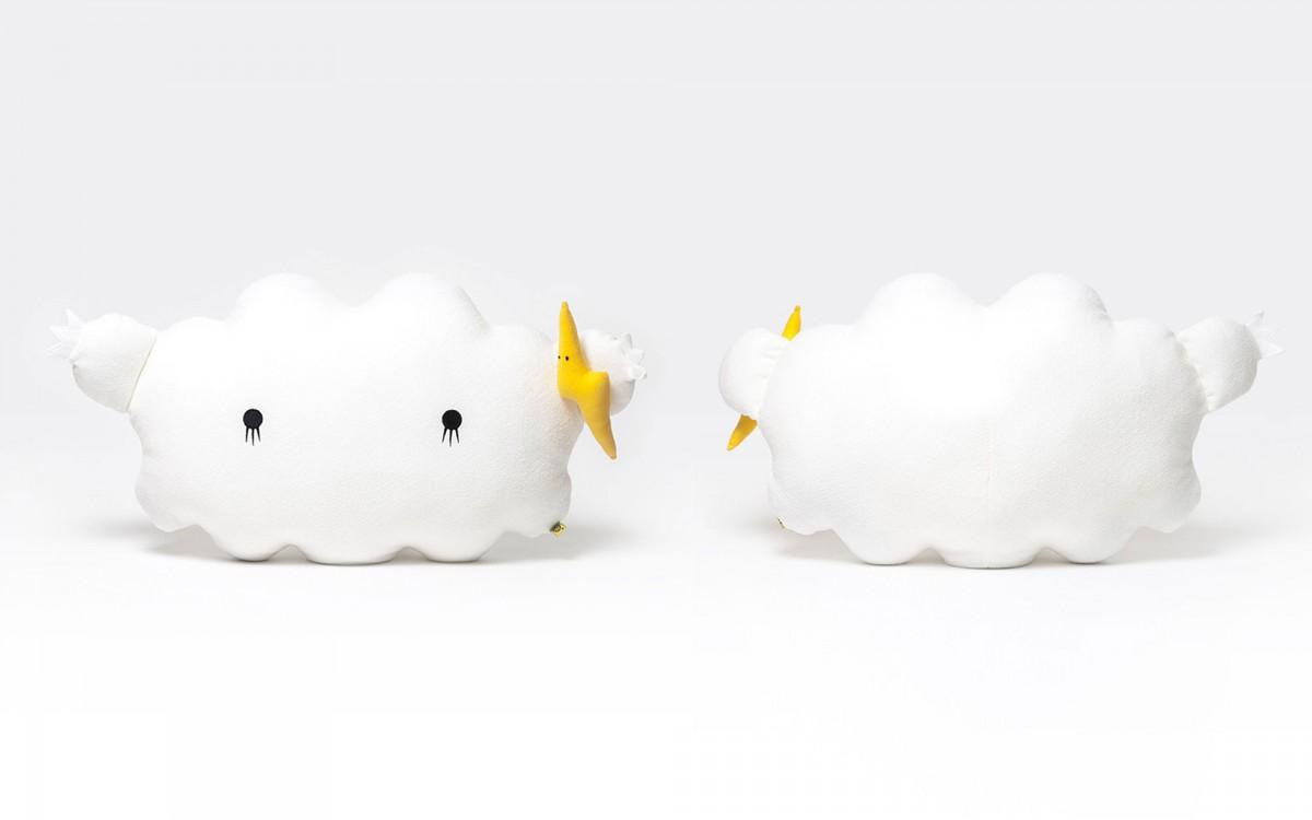 cloud plush cushion white