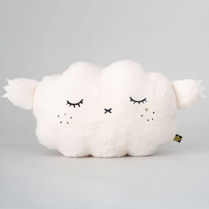 white cloud plush cushion for babies and kids by Noodoll