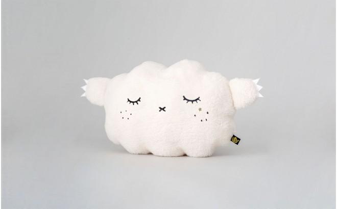 coussin peluche nuage bébé et enfants blanc par Noodoll