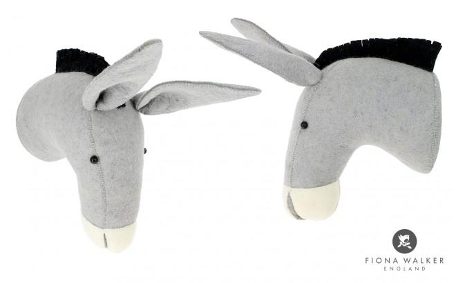 trophée mural tête d'âne au chapeau