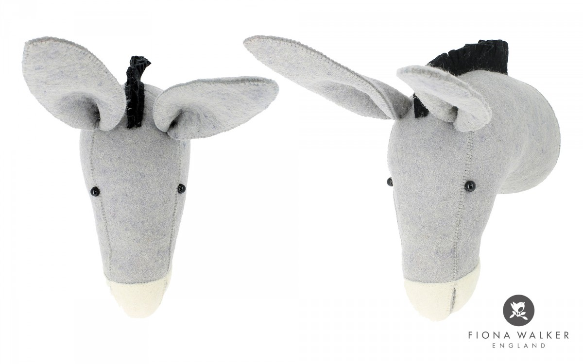 donkey with hat wall mounted animal head