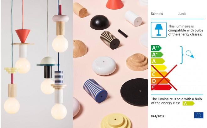 lámpara de techo junit drop - diseño escandinavo