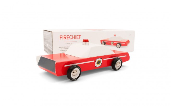 Firechief wood toy car by Candylabtoys