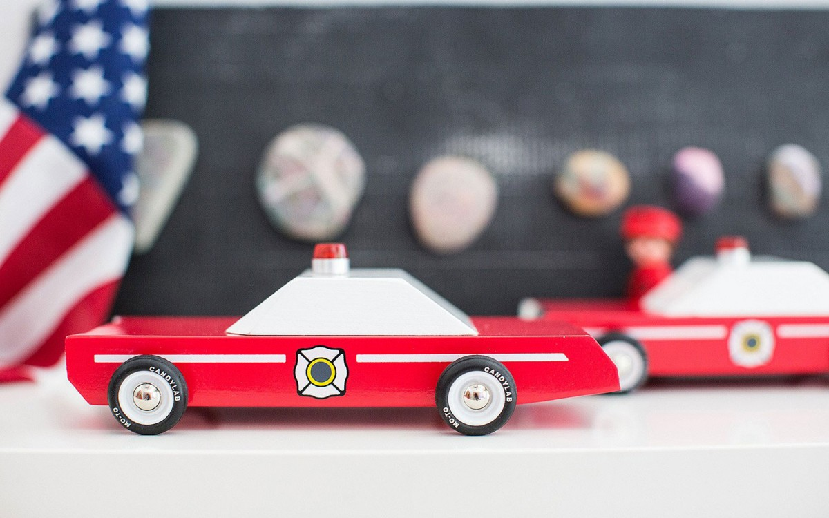 Firechief wood toy car