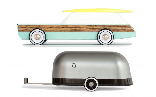 Woodie revisitée et caravane Airstream par Candylabtoys