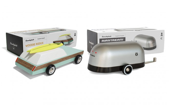 Woodie revisitado y caravana Airstream por Candylabtoys