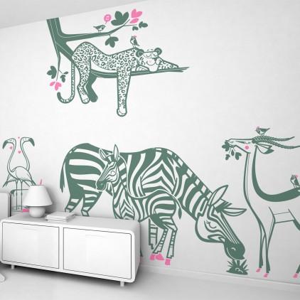 Stickers chambre enfants jungle par E-Glue (4)