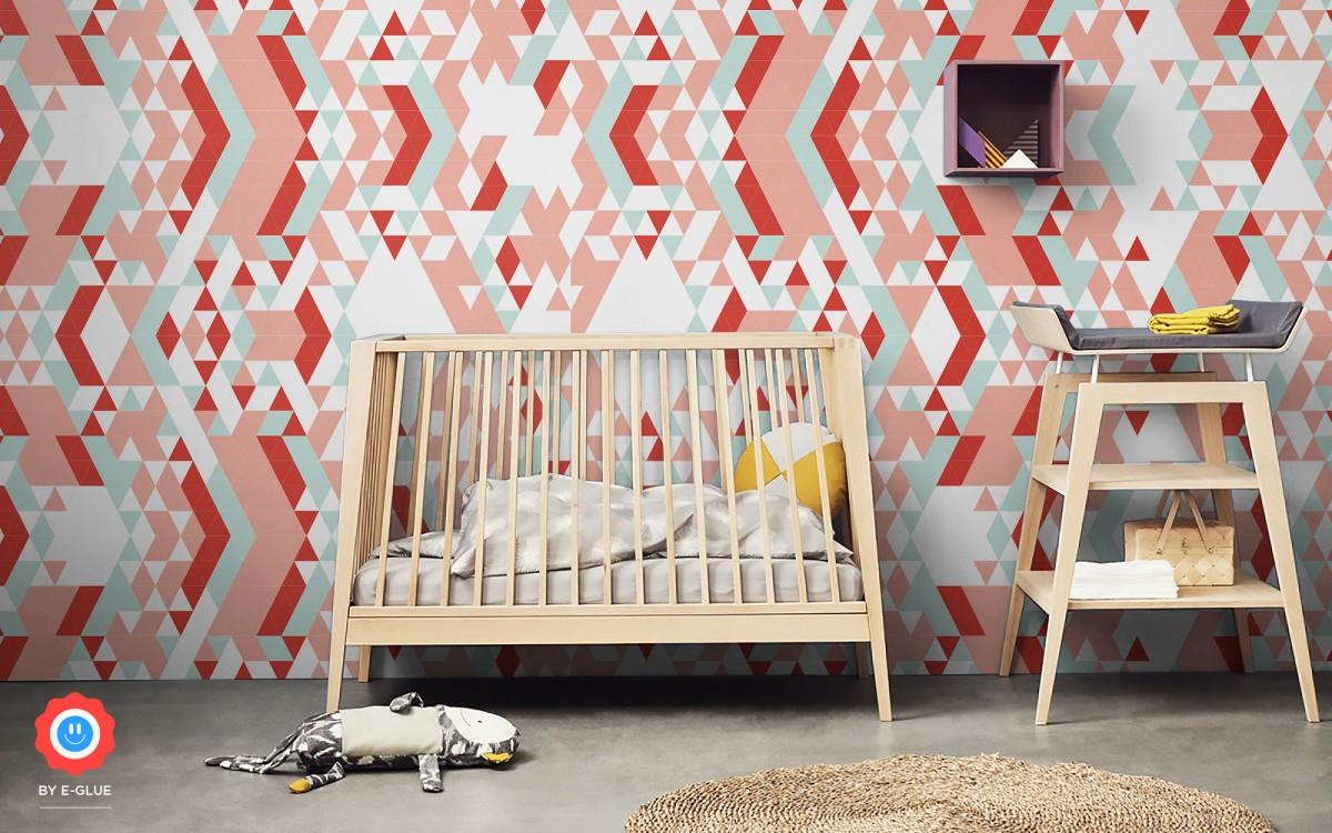 papel pintado infantil triángulos (horizontal)
