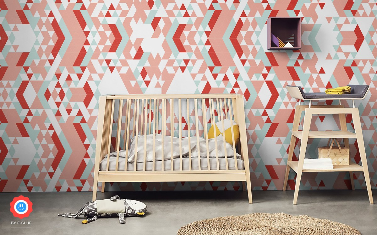 papier peint enfant triangles (horizontal)