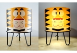 kids table lamp Minilum Tiger, wood and metal
