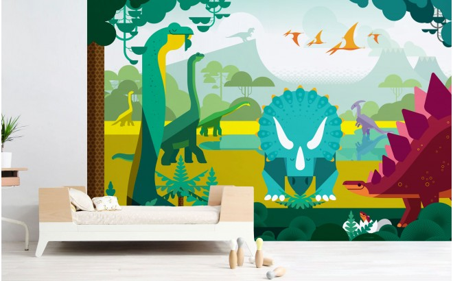 DINOSAUR WALLPAPER MURAL Bespoke Boys Room Wall Murals XXL