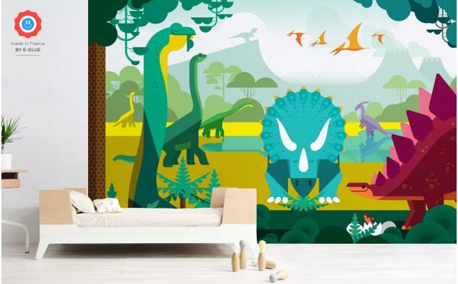 mural infantil dinosaurios para habitaciones infantiles niños