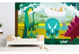 dinosaurs wallpaper for kids boy room