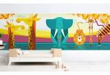 Fresque Murale Papier-Peint Enfants sur Mesure panoramique plaine Africaine
