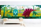 papier-peint enfants panoramique dinosaures pour chambre garçon