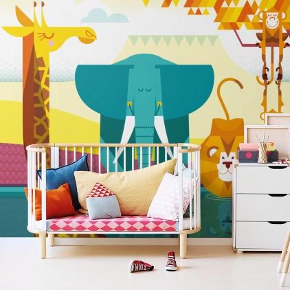d coration murale enfants papiers peints chambre b b et enfant sur mesure. Black Bedroom Furniture Sets. Home Design Ideas