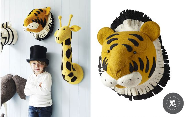 Felt Animal Heads by Fiona Walker, Tiger