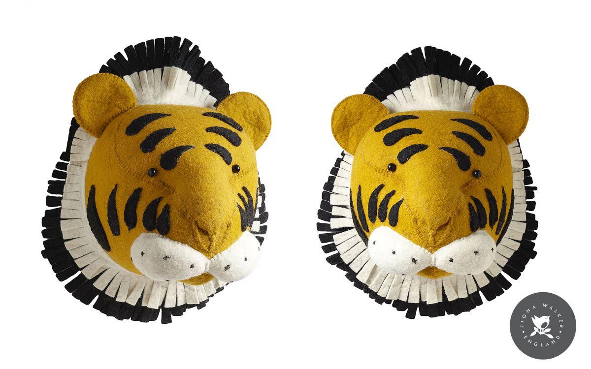 trophée mural tête de tigre