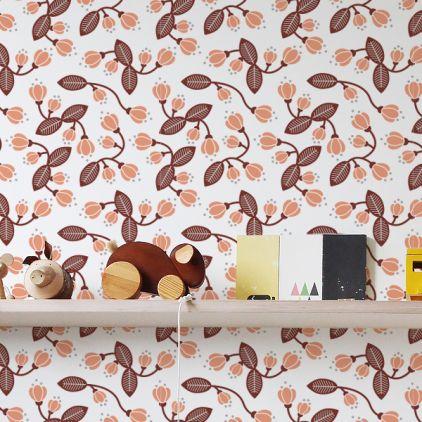 Floral Wallpaper For Girls Room Or Nursery