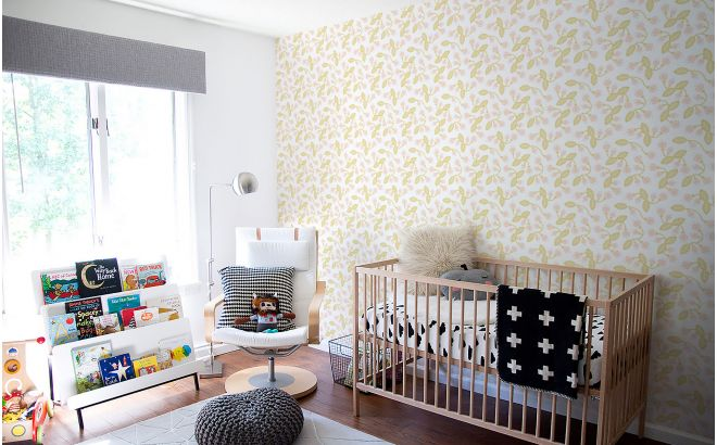 Papier Peint Bebe Floral Pastel Deco Chambre Enfant Fille