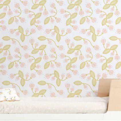 Floral Wallpaper For Nursery Or Girls Room