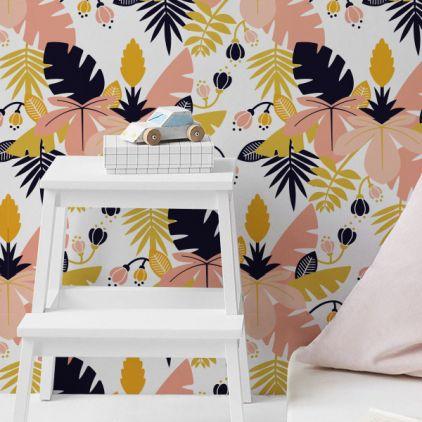 Jungle Leaves Wallpaper For Girls