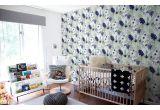 papier peint jungle tropicale bleu pour chambre enfant garçon