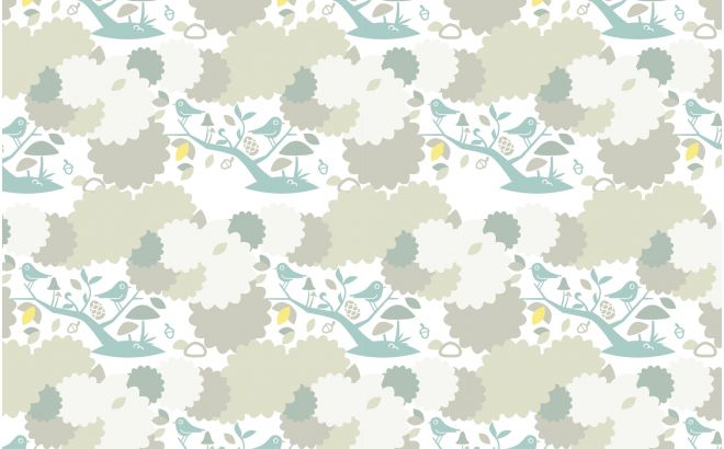 Bird Wallpaper For Boys Room Or Nursery Blue