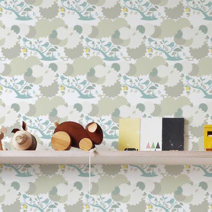 Bird Wallpaper For Boys Room Or Nursery