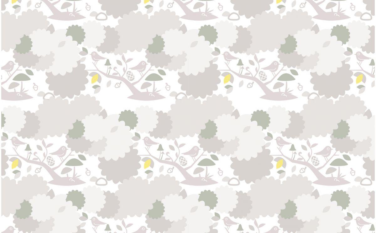 Grey Bird Nursery Wallpaper Kids Room Wallpaper And Wall