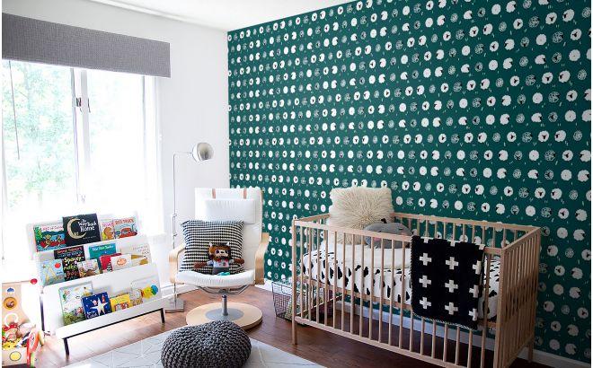 papier peint mouton bleu canard pour chambre enfant ou chambre bébé