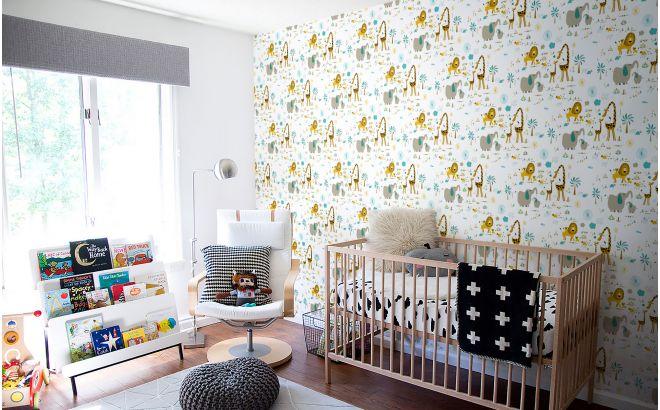 papier peint animaux de la savane chambre bébé