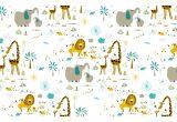 joli papier peint enfant animaux de la jungle pour chambre bébé