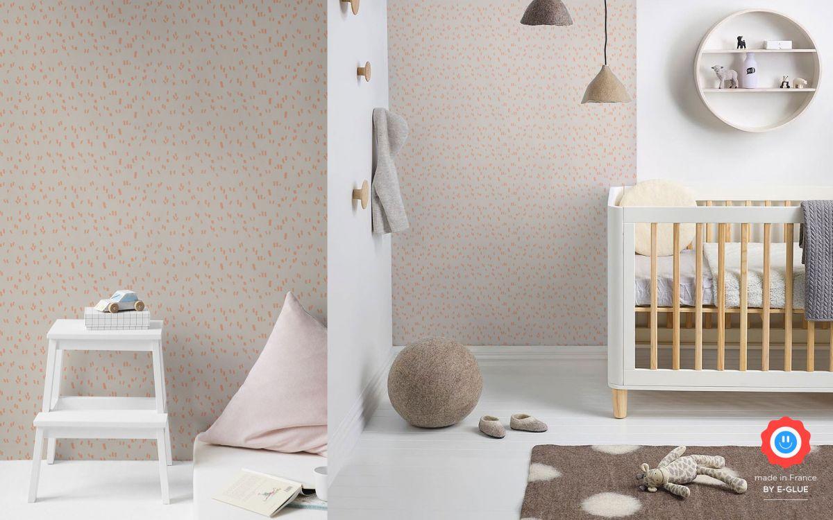modern graphic girls wallpaper - pink