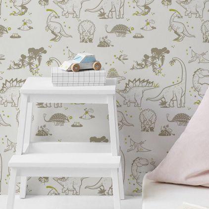 Papel pintado infantil papeles pintados habitaciones for Papel pintado topos