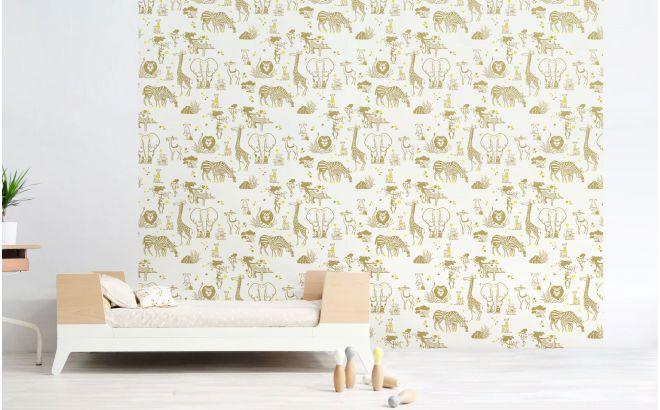 papier peint animaux savane d co chambre enfant. Black Bedroom Furniture Sets. Home Design Ideas