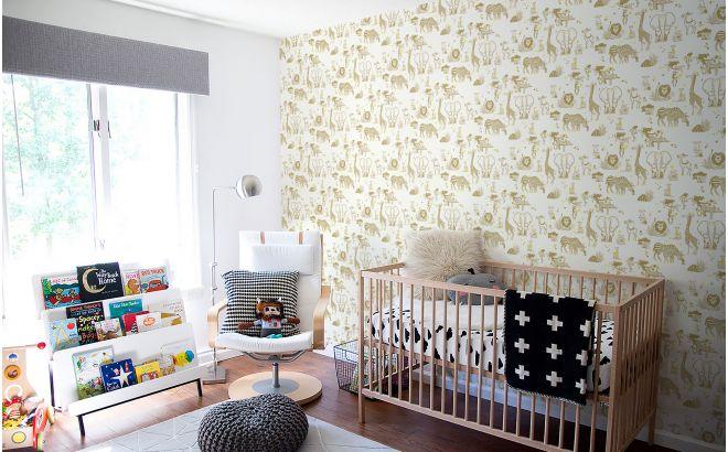 papel pintado infantil con lindos animales de la selva mostaza y amarillo para habitaciones infantiles bebés