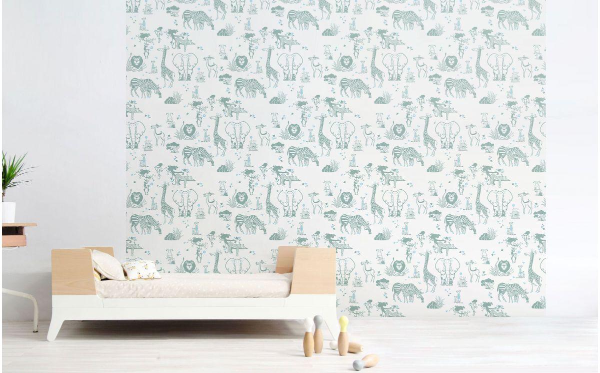 papier peint animaux safari d co chambre gar on. Black Bedroom Furniture Sets. Home Design Ideas