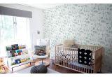 papel pintado infantil con lindos animales de la jungla gris verde y azul para habitaciones infantiles niños