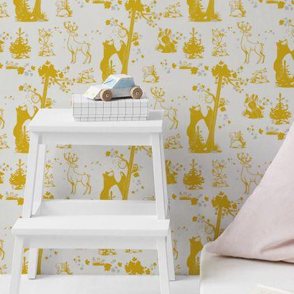 Papeles pintados para dormitorios papel pintado para for Dormitorio infantil bosque