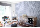 papel pintado para niños jugadores de fútbol azul y rojo para habitaciones infantiles modernas