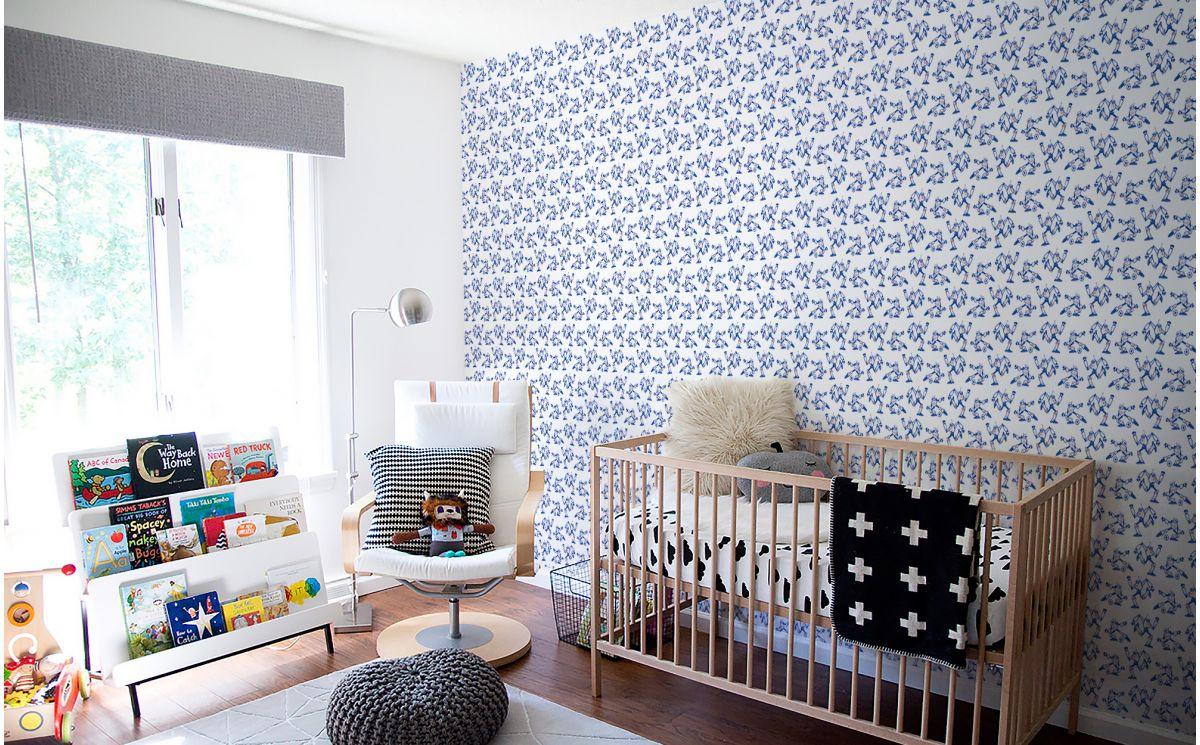 papier peint football bleu d co chambre enfant gar on. Black Bedroom Furniture Sets. Home Design Ideas