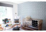 papel pintado para niños jugadores de fútbol azul y amarillo para habitaciones infantiles modernas