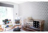 papel pintado infantil bebé gris y rosa con ballenas lindas para habitación bebés o niñas