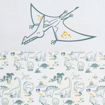 Decoraci n infantil de pared papel pintado y gran vinilo combinados por e glue - Papeles pintados y vinilos ...