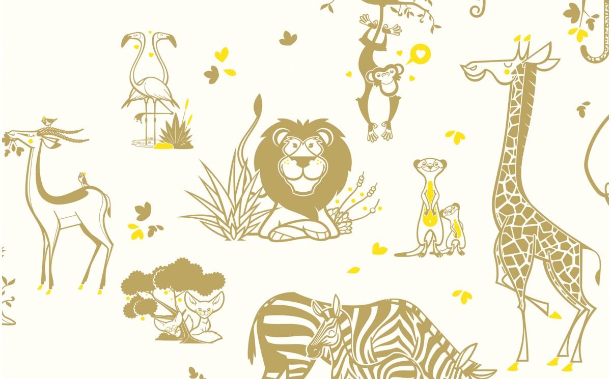 Papel Pintado Animales Selva Habitaci 243 N Infantil Beb 233