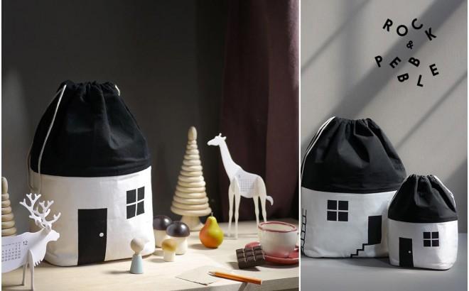 Sac Rangement Jouets Maison Moyen Modele par Rock and Pebble