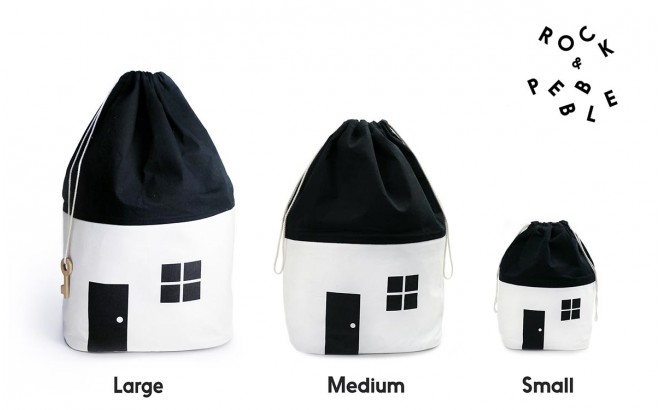 Organic House Storage Bags by Rock and Pebble